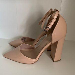 ASOS Patent Nude heels